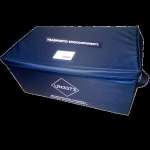Contenitore terziario per il trasporto di emocomponenti con capacità fino a 20 sacche di sangue