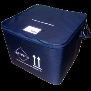 Contenitore terziario per il trasporto di emocomponenti con capacità fino a 20 sacche di sangue con prova di temperatura di Ente terzo