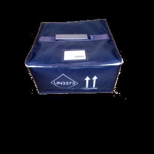 Il contenitore terziario per il trasporto di due contenitori secondari cod.720202A