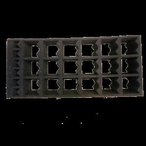 Rack in spugna assorbente per il trasporto di contenitori istologici cod. 45390080