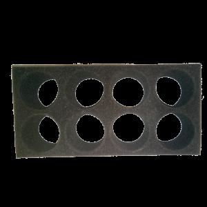 Rack in spugna assorbente per il trasporto di contenitori urine cod. 45390081