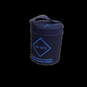 contenitore terziario cilindrico per il trasporto di 12 provette cod. 472022